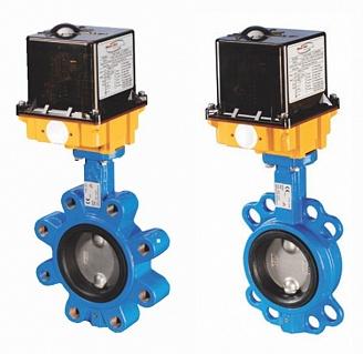 Поворотные дисковые затворы межфланцевого и прифланцовываемого типа с электроприводом