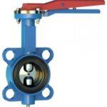 Дисковый затвор с диском нержавеющей стали ISO 5211 для пневмопривода и электропривода