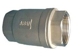 Обратный клапан нержавеющий из стали AISI316/304 (CF8M)(CF8) резьбовой/муфтовый DN(Ду)15-50 PN(Ру)40