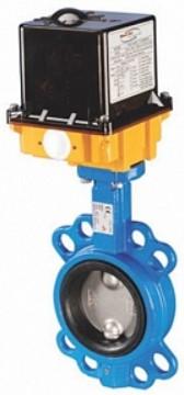 Поворотные дисковые затворы межфланцевого типа с электроприводом